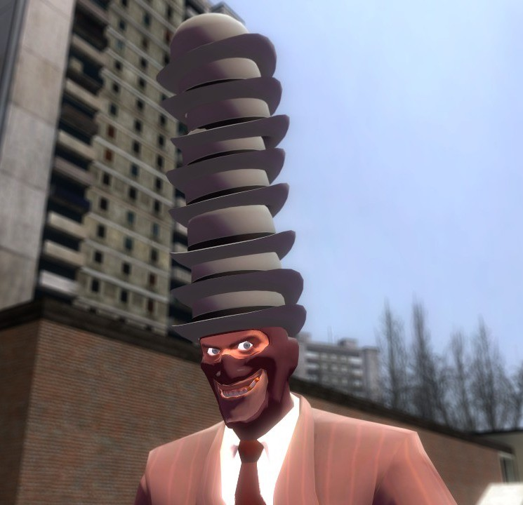 Wearing a tower of hats